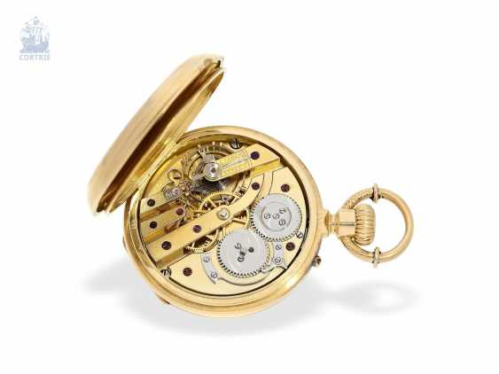 Pocket watch: unique, ultra-fine Gold/enamel Pocket chronometer, signed F. Veyrat Geneve No. 2052, CA. 1860 - photo 2