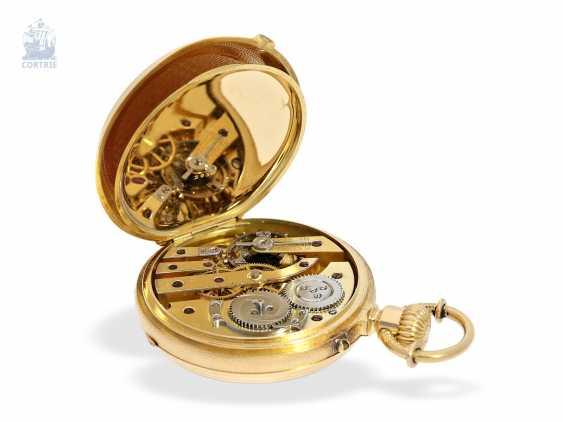 Pocket watch: unique, ultra-fine Gold/enamel Pocket chronometer, signed F. Veyrat Geneve No. 2052, CA. 1860 - photo 3