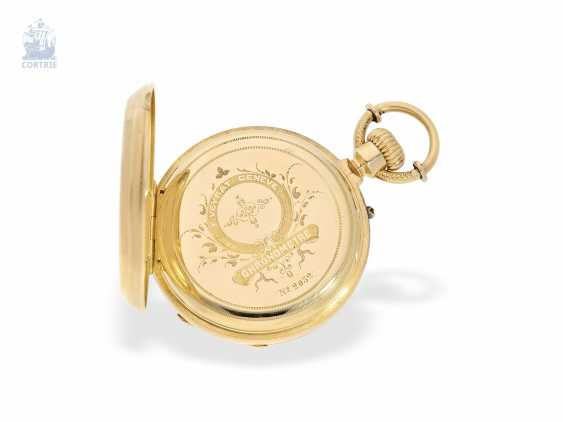 Pocket watch: unique, ultra-fine Gold/enamel Pocket chronometer, signed F. Veyrat Geneve No. 2052, CA. 1860 - photo 5