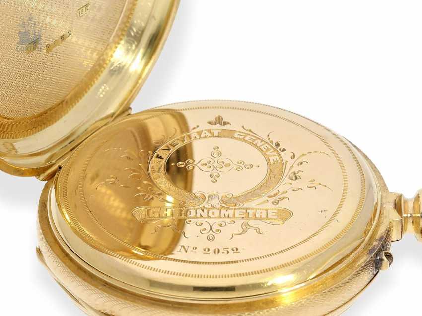 Pocket watch: unique, ultra-fine Gold/enamel Pocket chronometer, signed F. Veyrat Geneve No. 2052, CA. 1860 - photo 7