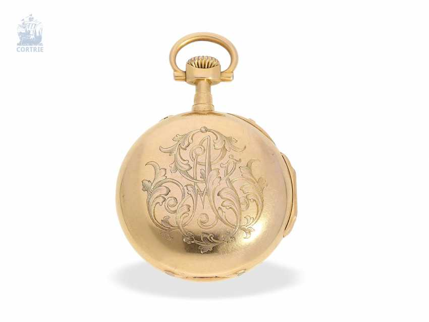 Pocket watch: very fine and extremely rare French Louis XVI-Style Pocket chronometer with original box, Maingourd Freres Le Mans No. 50653, CA. 1870 - photo 2