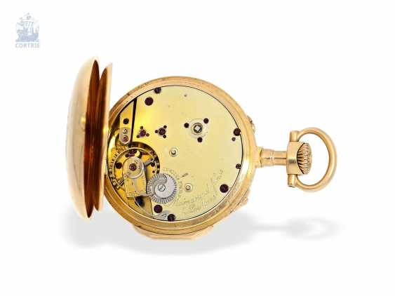 Pocket watch: very fine and extremely rare French Louis XVI-Style Pocket chronometer with original box, Maingourd Freres Le Mans No. 50653, CA. 1870 - photo 5