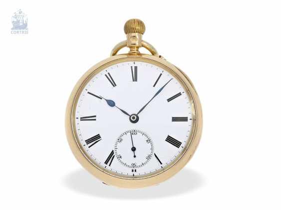 Pocket watch: rare English precision pocket watch with carousel, Bahne Bonniksen/ Perkins & Son London No. 23955, English Hallmarks 1900 - photo 1