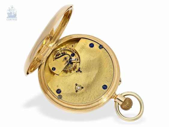 Pocket watch: rare English precision pocket watch with carousel, Bahne Bonniksen/ Perkins & Son London No. 23955, English Hallmarks 1900 - photo 2