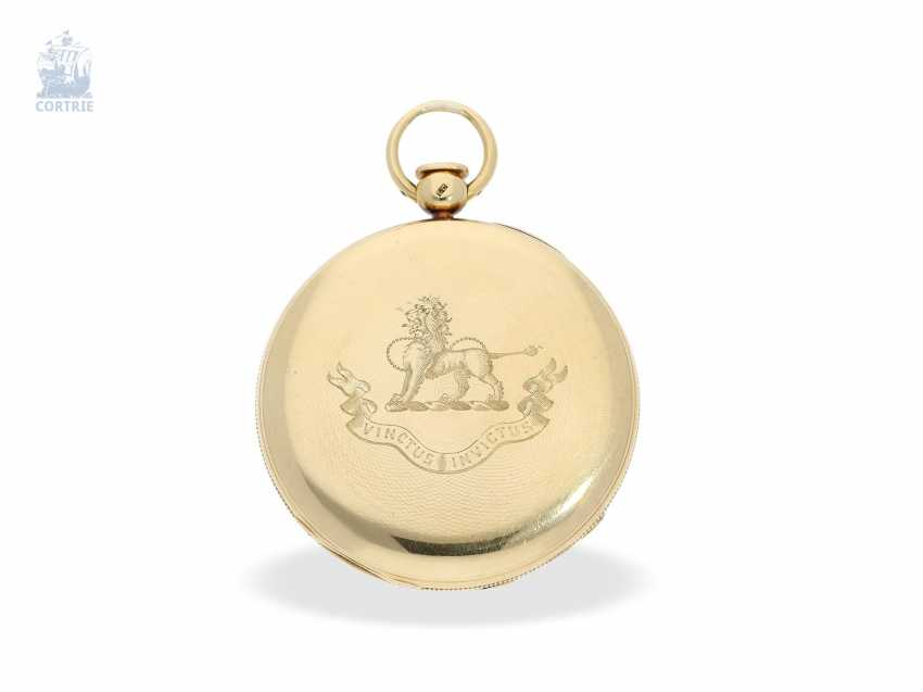 Pocket watch: technically highly interesting and extremely rare pocket watch with Pendant-to-train-lift, seconds and duplex escapement, Viner & Co of London in 1837, former noble possession - photo 2