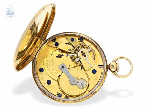 Pocket watch: technically highly interesting and extremely rare pocket watch with Pendant-to-train-lift, seconds and duplex escapement, Viner & Co of London in 1837, former noble possession - photo 3