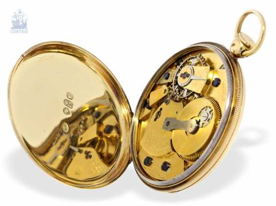 Pocket watch: technically highly interesting and extremely rare pocket watch with Pendant-to-train-lift, seconds and duplex escapement, Viner & Co of London in 1837, former noble possession - photo 4