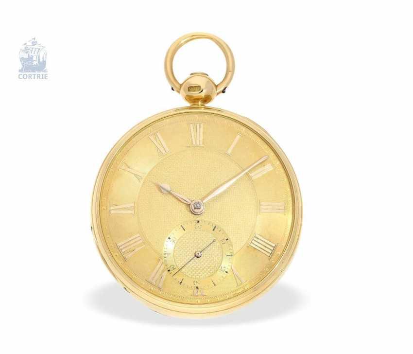 "Pocket watch: very fine English Pocket chronometers, around 1800, George Margetts, London, (1748-1808), ""Longitudinal Watchmaker"", ""Master of Horology"" since 1779 - photo 1"