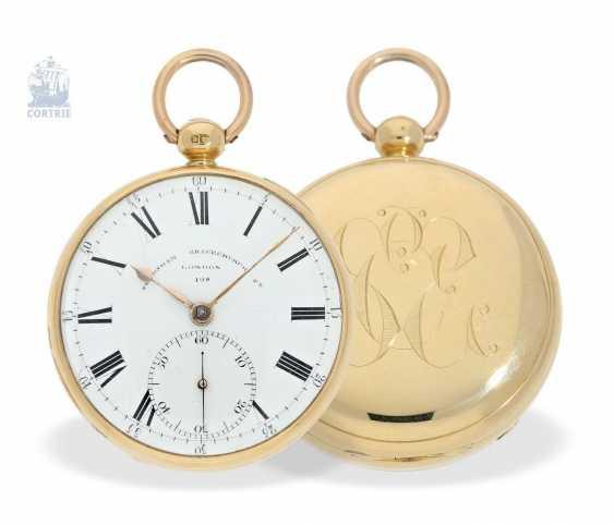 Pocket watch: heavy Pocket chronometer, signed Frodsham, London, No. 198, Hallmark 1824 - photo 1
