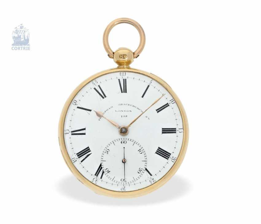 Pocket watch: heavy Pocket chronometer, signed Frodsham, London, No. 198, Hallmark 1824 - photo 5