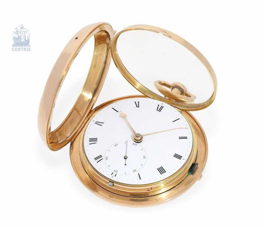"Pocket watch: early and interesting Irish Pocket chronometer, by James Scott, Dublin, No. 276, ""Longitudinal Watchmaker"", (1806-1820) - photo 3"