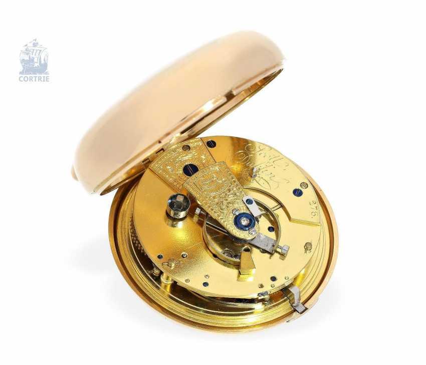 "Pocket watch: early and interesting Irish Pocket chronometer, by James Scott, Dublin, No. 276, ""Longitudinal Watchmaker"", (1806-1820) - photo 5"