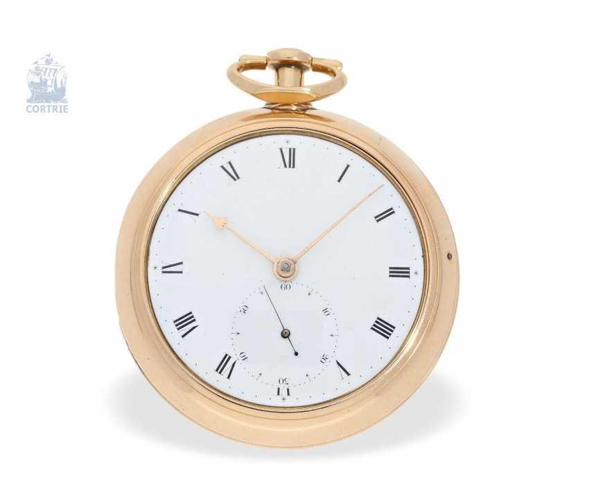 "Pocket watch: early and interesting Irish Pocket chronometer, by James Scott, Dublin, No. 276, ""Longitudinal Watchmaker"", (1806-1820) - photo 7"