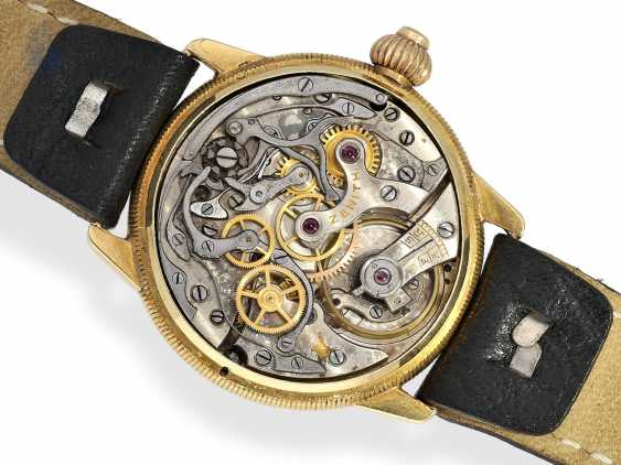 """Watch: rarity, extremely early """"Single Button Chronograph"""", with the Register and enamel dial, Zenith to 1928 - photo 4"""