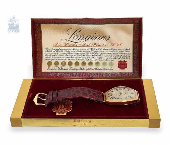 "Watch: early Longines Art Deco men's watch ""Tonneau"", probably around 1935, including the rare original box - photo 2"