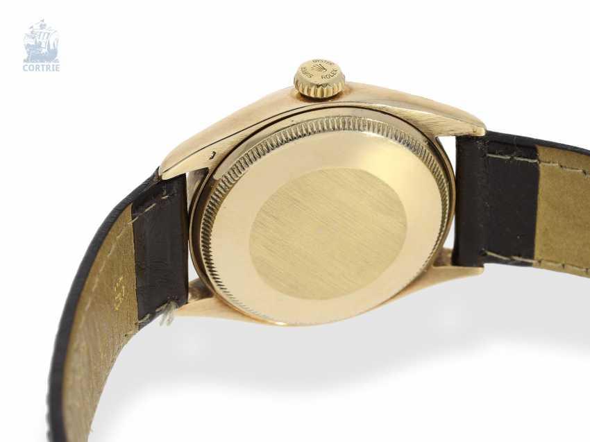 "Armbanduhr: Rolex Bubble Back Chronometer in 14K Gold, Ref.6085 ""Big Bubble Back"" , 50er Jahre - photo 2"