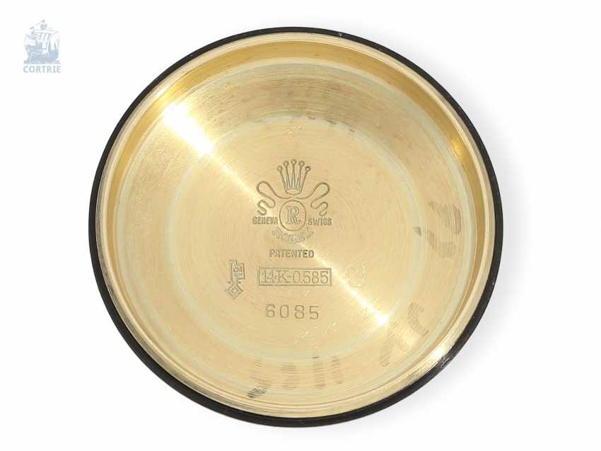 "Armbanduhr: Rolex Bubble Back Chronometer in 14K Gold, Ref.6085 ""Big Bubble Back"" , 50er Jahre - photo 3"