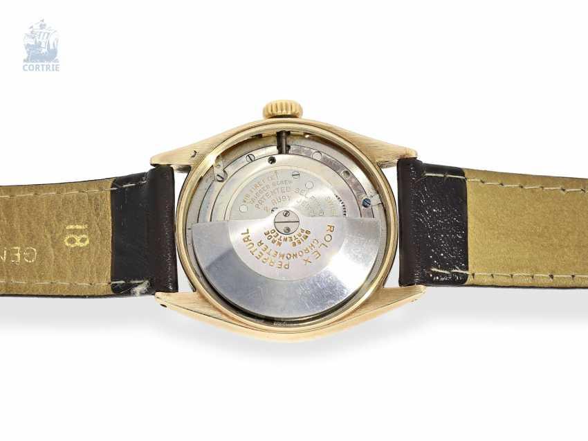 "Armbanduhr: Rolex Bubble Back Chronometer in 14K Gold, Ref.6085 ""Big Bubble Back"" , 50er Jahre - photo 4"