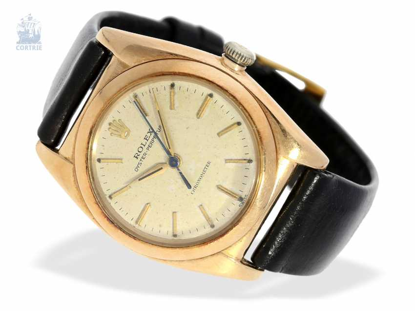Watch: Rolex watch-rare rose gold, Rolex Oyster Perpetual, Bubble Back Ref. 3131, CA. 1945 - photo 1
