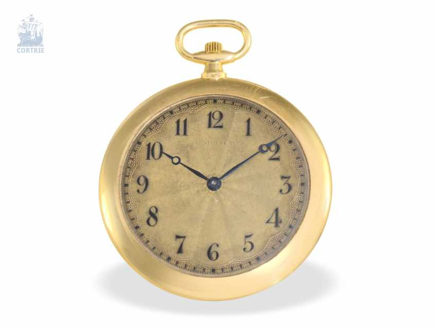 """Pocket watch: Cartier, """"Montre Couteau"""", around 1930, slimmest of Cartier-built men's pocket watch, the entire watch only 4mm thick - photo 1"""