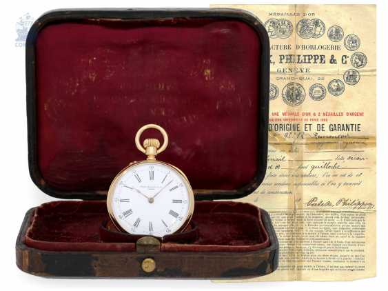Pocket watch: very fine Patek Philippe pocket watch with original box, CA. 1891 - photo 1