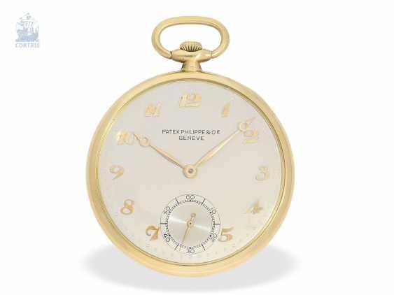 "Pocket watch: very fine Patek Philippe Frackuhr ""Breguet-Type"", CA. 1930, with Box - photo 1"