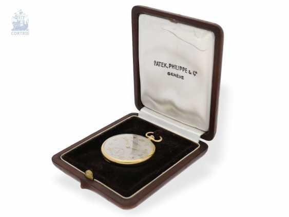 "Pocket watch: very fine Patek Philippe Frackuhr ""Breguet-Type"", CA. 1930, with Box - photo 7"