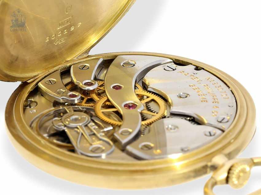 "Pocket watch: very fine Patek Philippe Frackuhr ""Breguet-Type"", CA. 1930, with Box - photo 9"