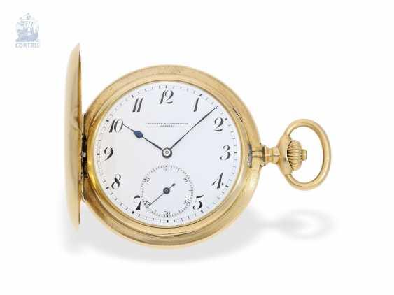"""Taschenuhr: besonders schweres und hochfeines Ankerchronometer, Vacheron & Constantin, Genève, """"Half-Chronometer"""" No.357629, ac 1904 - photo 1"""