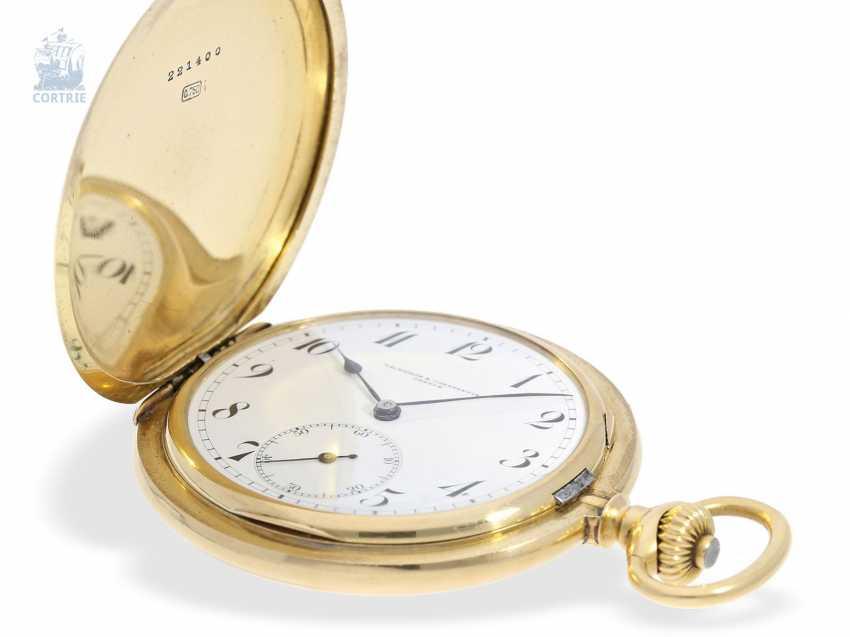 """Taschenuhr: besonders schweres und hochfeines Ankerchronometer, Vacheron & Constantin, Genève, """"Half-Chronometer"""" No.357629, ac 1904 - photo 5"""