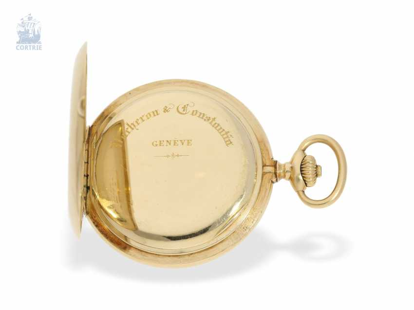 """Taschenuhr: besonders schweres und hochfeines Ankerchronometer, Vacheron & Constantin, Genève, """"Half-Chronometer"""" No.357629, ac 1904 - photo 7"""