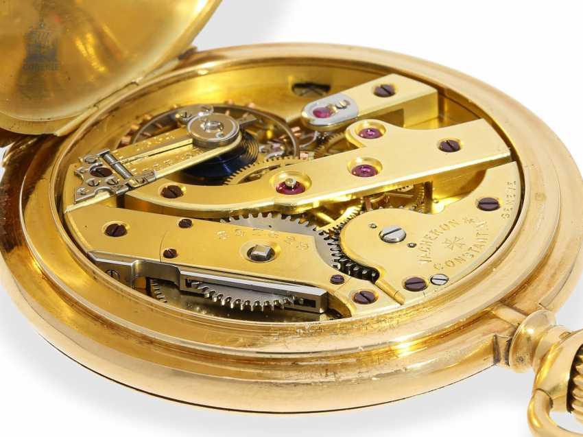 """Taschenuhr: besonders schweres und hochfeines Ankerchronometer, Vacheron & Constantin, Genève, """"Half-Chronometer"""" No.357629, ac 1904 - photo 9"""