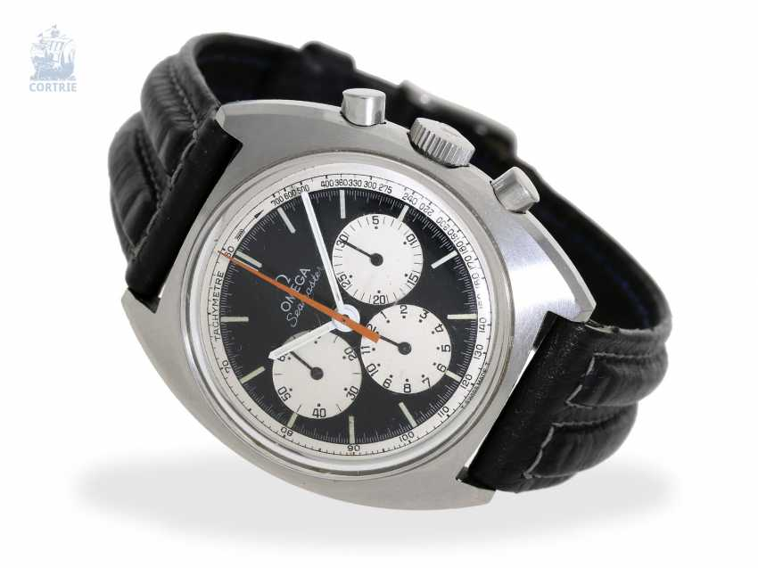 """Watch: wanted, great vintage Omega Chronograph Seamaster """"Reverse Panda"""" Ref.145.016-68 of 1968, excellent condition - photo 1"""