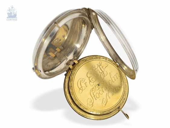 Pocket watch: Museum Pedometer/Satteluhr in excellent original condition, Peter Ernst of Stockholm, No. 11, approx. 1765 , Stockholm, 1714-1789 - photo 3