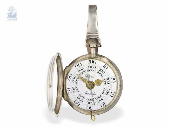 Pocket watch: Museum Pedometer/Satteluhr in excellent original condition, Peter Ernst of Stockholm, No. 11, approx. 1765 , Stockholm, 1714-1789 - photo 4