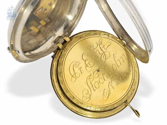 Pocket watch: Museum Pedometer/Satteluhr in excellent original condition, Peter Ernst of Stockholm, No. 11, approx. 1765 , Stockholm, 1714-1789 - photo 5