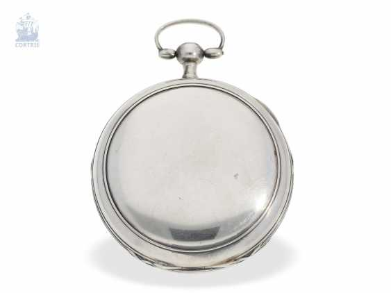 Pocket watch: unique, astronomical Spindeluhr with 3 complications and extremely rare plant decoration, probably Austria, around 1790 - photo 5
