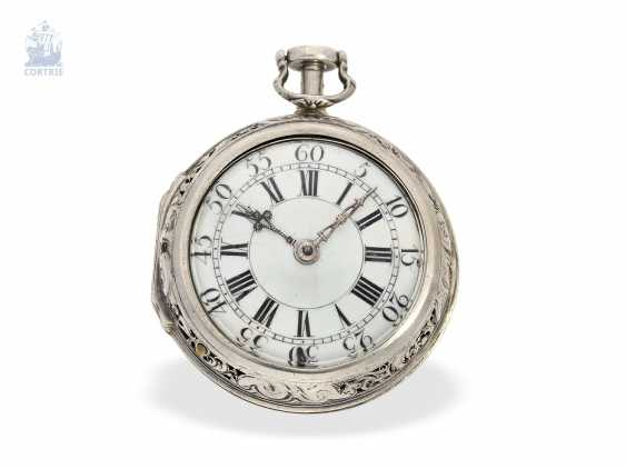 Pocket watch: early repoussé technology, double-housing Spindeluhr with repeater Les Freres March Ville, Geneva, in 1740 - photo 2