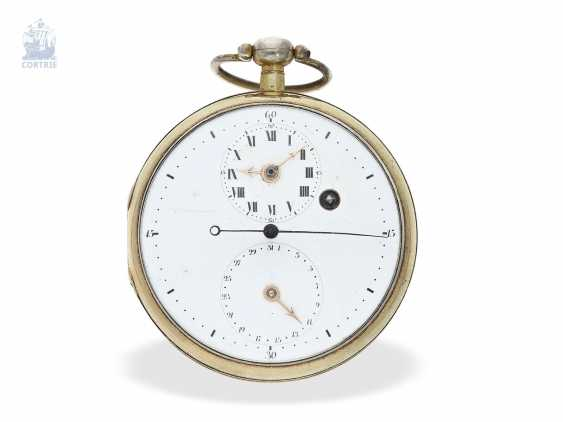Pocket watch: rare extremely technically highly interesting pocket watch with special escapement , signed Hahn in Stuttgart, Germany, CA. 1790 - photo 1