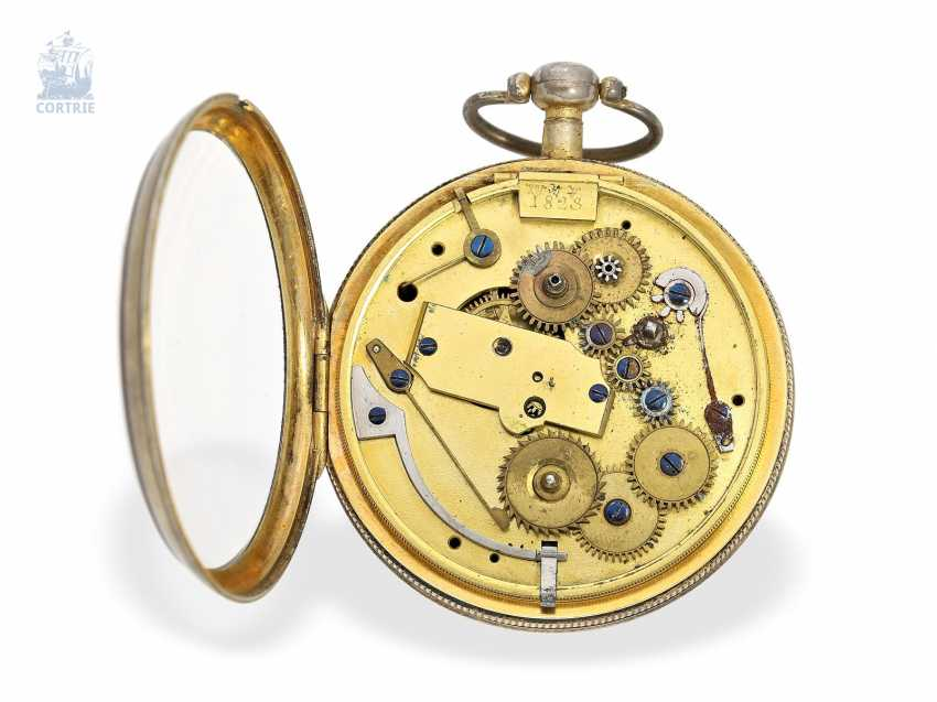 Pocket watch: rare extremely technically highly interesting pocket watch with special escapement , signed Hahn in Stuttgart, Germany, CA. 1790 - photo 4