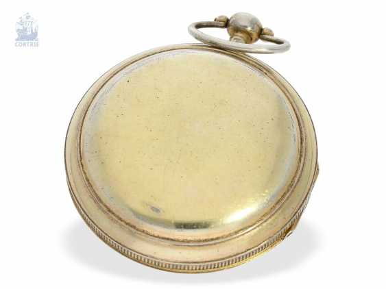 Pocket watch: rare extremely technically highly interesting pocket watch with special escapement , signed Hahn in Stuttgart, Germany, CA. 1790 - photo 6
