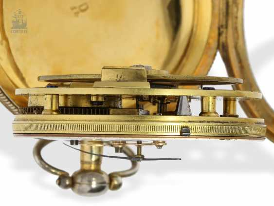 Pocket watch: rare extremely technically highly interesting pocket watch with special escapement , signed Hahn in Stuttgart, Germany, CA. 1790 - photo 7