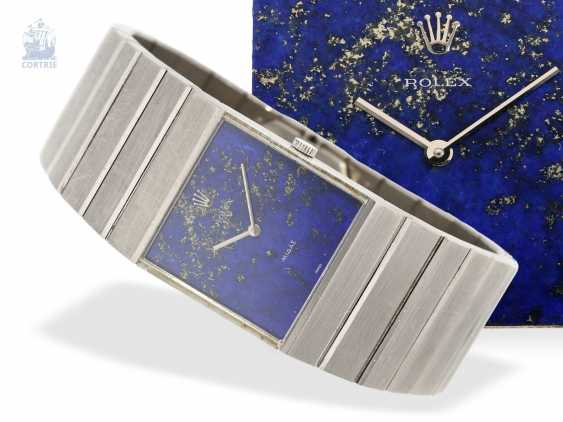 Watch: Rolex watch-rare, extremely rare King Midas Ref.3584 in solid gold with lapis lazuli dial white, Rolex, CA. 1975 - photo 1