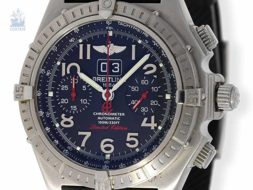 """Armbanduhr: seltener, limitierter Breitling Chronograph, Crosswind """"Special"""" Chronometer A44355I2/B666 No.186/250, limitiert auf 250 Exemplare, mit Box und Papieren - photo 1"""