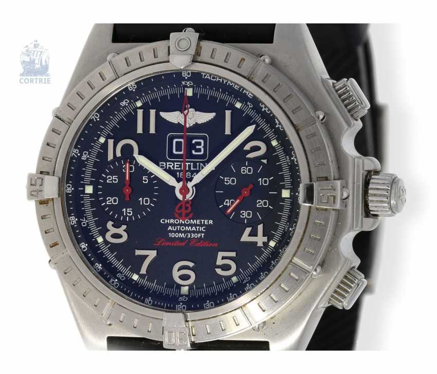 """Armbanduhr: seltener, limitierter Breitling Chronograph, Crosswind """"Special"""" Chronometer A44355I2/B666 No.186/250, limitiert auf 250 Exemplare, mit Box und Papieren - photo 2"""
