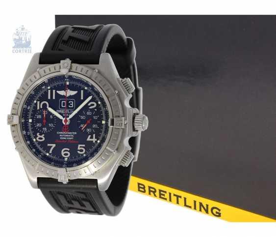 """Armbanduhr: seltener, limitierter Breitling Chronograph, Crosswind """"Special"""" Chronometer A44355I2/B666 No.186/250, limitiert auf 250 Exemplare, mit Box und Papieren - photo 4"""