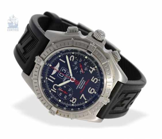"""Armbanduhr: seltener, limitierter Breitling Chronograph, Crosswind """"Special"""" Chronometer A44355I2/B666 No.186/250, limitiert auf 250 Exemplare, mit Box und Papieren - photo 5"""