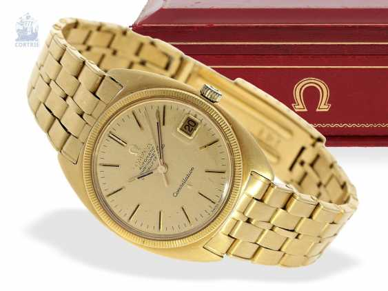 "Watch: a luxury version of a Omega Constellation Ref. 168027 from 1970 in 18K yellow gold with original box ""CHRONOMETER"" - photo 1"