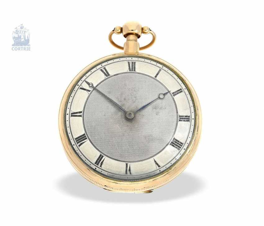 Pocket watch: a Museum and technically highly interesting Percussion pocket watch, the earliest known numbered pocket watch by Frederik Jürgensen, Copenhagen, No. 4033, CA. 1813 - photo 1