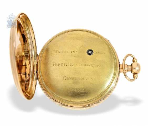 Pocket watch: a Museum and technically highly interesting Percussion pocket watch, the earliest known numbered pocket watch by Frederik Jürgensen, Copenhagen, No. 4033, CA. 1813 - photo 2